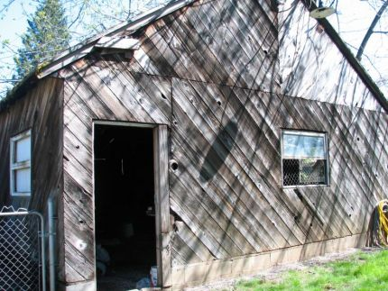 Oh my gosh, I am so excited! My husband contacted a lady today about an ad she placed on Craigslist for a 100 year old barn that she wanted removed off her property. The deal was take it down and keep the wood. We also have to dispose of the shingles. I am so excited to have all of this old wood to use!!!!