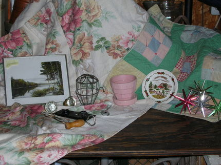 Day was great.  Weather and items cooperated very well.  Cool with a slight breeze and was able to obtain lots of goodies. Including vintage fabric and quilt piece to use in my cottage room.