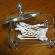Love the vintage silver.  Not sure what the original purpose of this dish was, but for $5 at a Flea Market it found a new use for holding q-tips at the cabin.