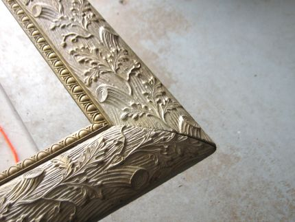 This is the detail of a beautiful old picture frame that I picked up at an estate auction for $2!