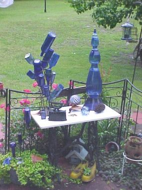Cobalt Bottle Tree