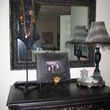 This is 2 pcs. married to create the manequin jewelry display.  This is how it looks with it on top of my dresser.