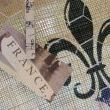 ....decoupage some paper onto a clothespeg and use it to clip your messages on to the chicken wire.
