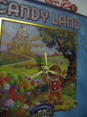 A 50th Anniversary CandyLand Tin... Turned Tin Clock