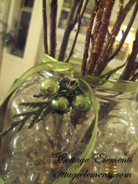 I know you can purchase clear rocks for use in your vases, but why buy when you can reuse.