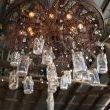 Judi Powers, the property owner made this chandelier that hangs in the center of the Barn