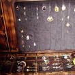 This is the ring organizer and where I hang earrings that can be hung.  The earring are hung on copper wiring that was pulled from an old piece of electrical wire.  (Again picture stayed sideways!!)