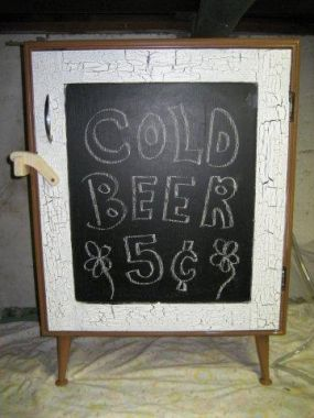 Chalkboard front...I wish beer was 5 cents...