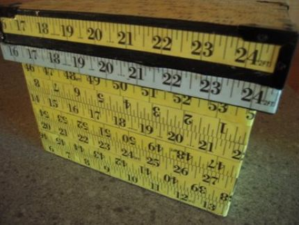 Some of these measuring tapes are fabric, some paper.