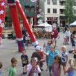 Patriotic, red,white, and blue Bubble Tower