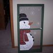 Winter WonderLand!. I took an old screen window I found and painted a snowman on it and added the words Let it Snow to the top, it is now ready to hang on the wall for the holidays.