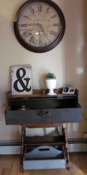 Antique Tool box turned Table