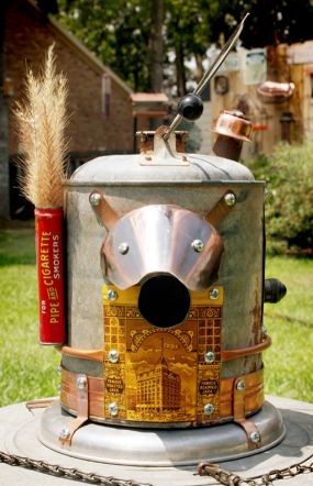 Prince Albert Can Galvanized Gas Can Upcycled Bird House