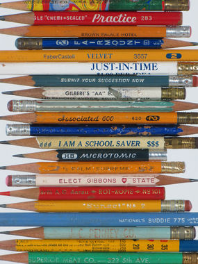 up close shot of the pencils