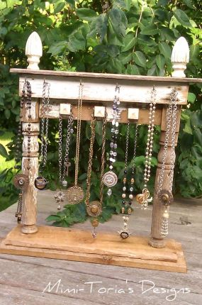 Repurposed junk just b cause for Repurposed jewelry holder