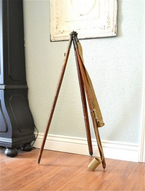 I found two of these tripods at an estate sale. They were made in 1916 and used by the British Military in WWI.