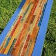 I used vintage yardsticks along with some I colored and aged to bring the design all together.