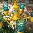 Repurposed Glass Insulator Candlelabra