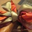 I told you I would be recycling ribbon from my Thanksgiving centerpiece. Ahh, the ribbon that just keeps on giving.