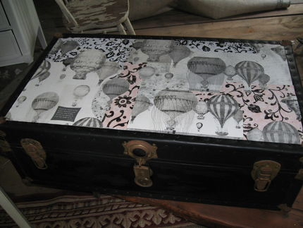 Old Trunk Makeover Junkmarket Style