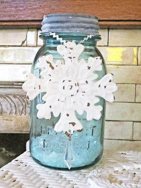 Ball Jar Snow Decor