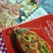 The cookbooks make clever little place mats. When lunch is done you can use them to find savory recipes for dinner. Spread-a- Burger, Pizza Doggies, Chickety Chick, or perhaps The Square Dance Special! Just saying...