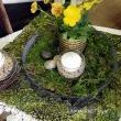 A vintage table cloth and a lichen mat and there you have it folks. Enjoy your day!