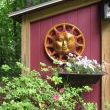 Hubcap Sun Face and Grill Plant Stand!
