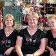Flossy, Frannie and Fjerda,,,from left to right. Notice the shirts. These ladies look like trouble