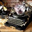Steampunk Upcycled Vintage 1920 Remington Typewriter Repurposed Plasma desk Lamp