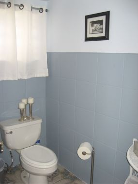 Bathroom on How To Make Your Bathroom Tolerable On A Budget   Junkmarket Style