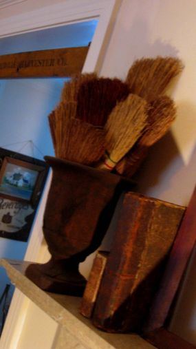 Different size Brooms add contrast